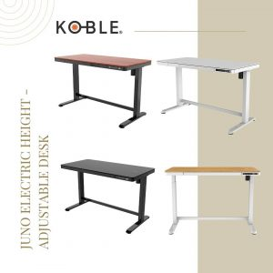 Today it's time to talk about the Juno Electric Height-Adjustable Desk collection. Available in these fantastic and elegant 4 colors: black, white, oak and walnut. It has all the essential details to become a durable and unique desk. Thanks to its electric adjustments, you will be able to adjust the height of the desk. This offers different possibilities: it can be used by people of different heights (also kids); you can use it if you like working some hours standing up and others sitting down, etc. Discover all its features. 🔝👉https://bit.ly/2P3Yxw5 🚚 Free Delivery on all products! . . . . . #beSmartwithKoble#KOBLEDesigns#designs#home#smarthome#decor#USA#technology#homedecor#officedesign #officedecor